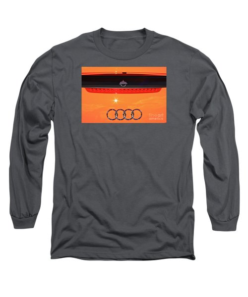 Long Sleeve T-Shirt featuring the photograph Audi Orange by Linda Bianic
