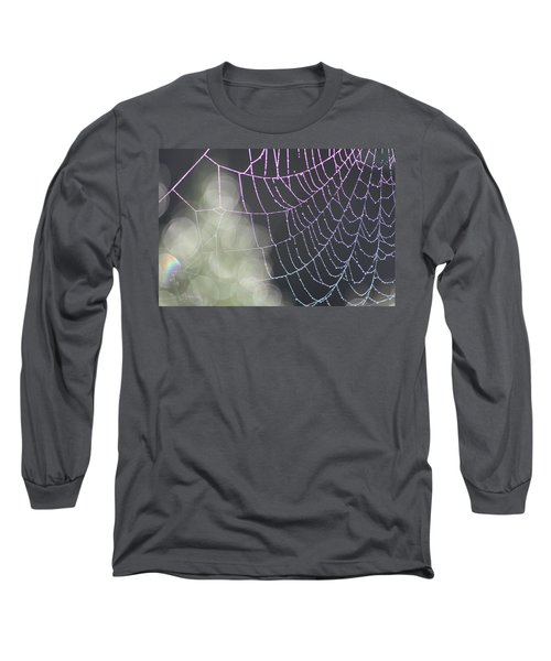 Long Sleeve T-Shirt featuring the photograph Aurora's Web by Cathie Douglas