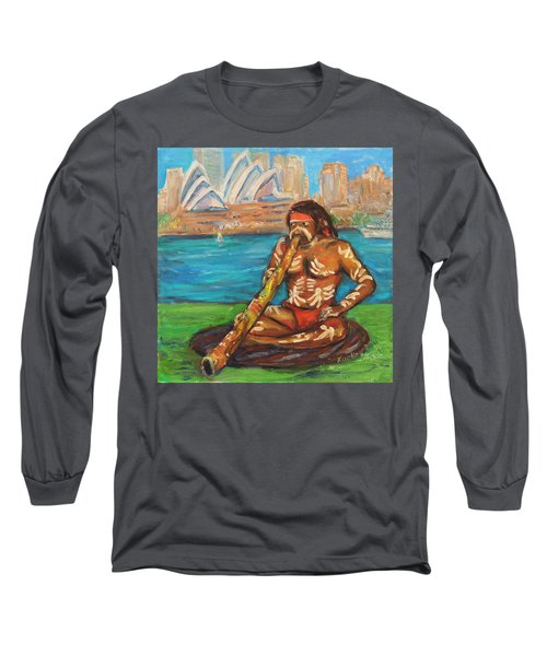 Long Sleeve T-Shirt featuring the painting Aussie Dream I by Xueling Zou