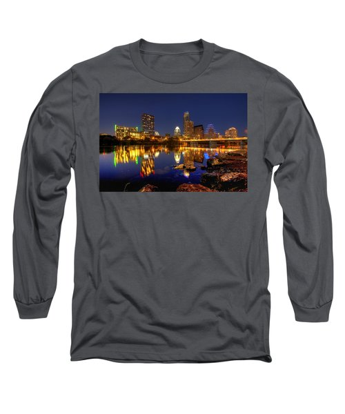 Long Sleeve T-Shirt featuring the photograph Austin On The Rocks by Dave Files