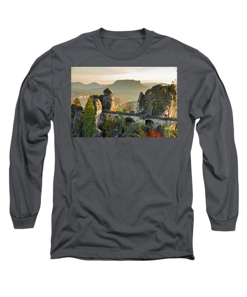 Autumn Afternoon On The Bastei Bridge Long Sleeve T-Shirt