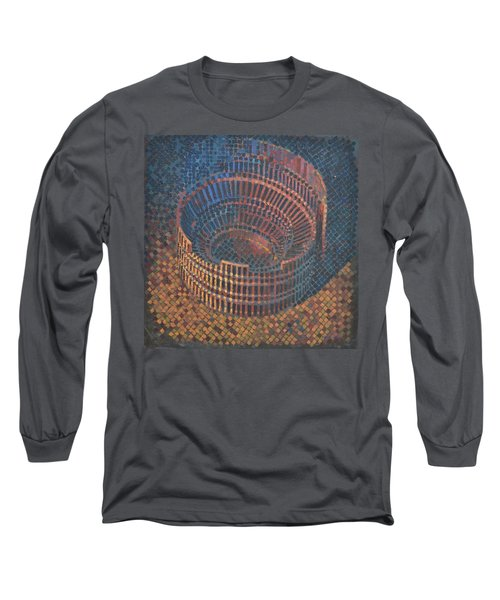 Long Sleeve T-Shirt featuring the painting Autumn Amphitheatre by Mark Howard Jones