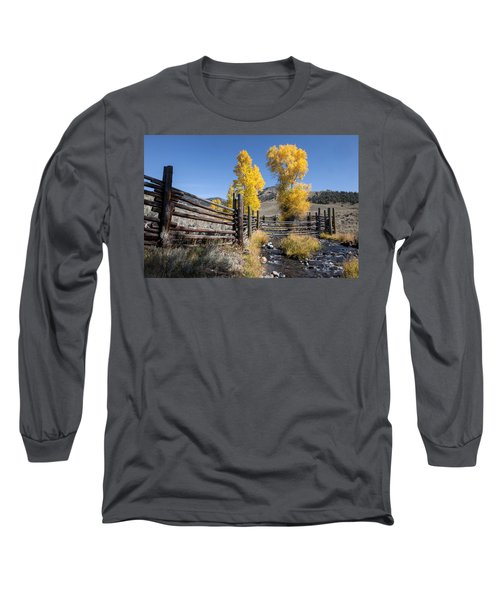 Long Sleeve T-Shirt featuring the photograph Autumn At The Lamar Buffalo Ranch by Jack Bell