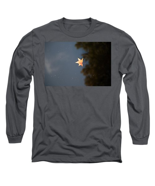 Autumn Floating By Long Sleeve T-Shirt by Rebecca Davis