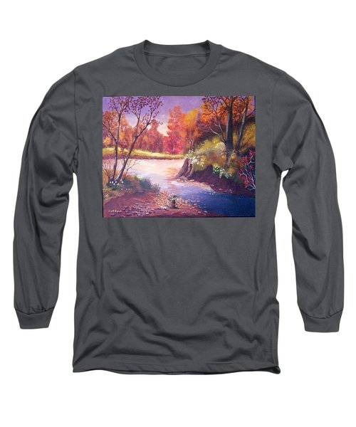 Autumn Leaves Long Sleeve T-Shirt by Catherine Swerediuk