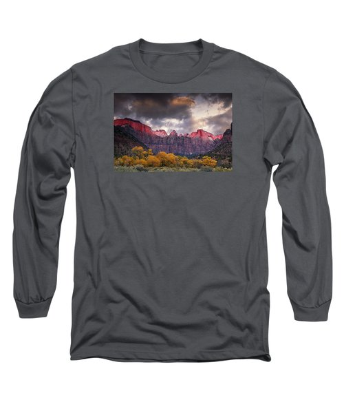 Long Sleeve T-Shirt featuring the photograph Autumn Morning In Zion by Andrew Soundarajan