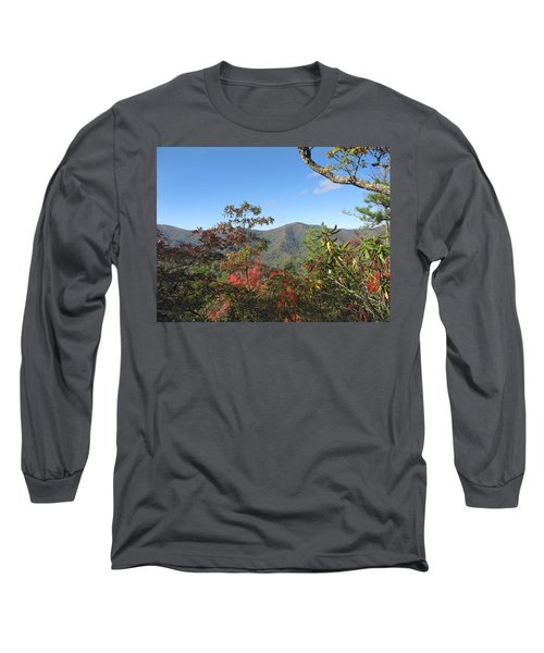 Autumn Smoky Mountains Long Sleeve T-Shirt by Melinda Fawver