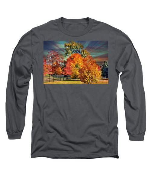 Autumn Splendor Long Sleeve T-Shirt by Judy Palkimas