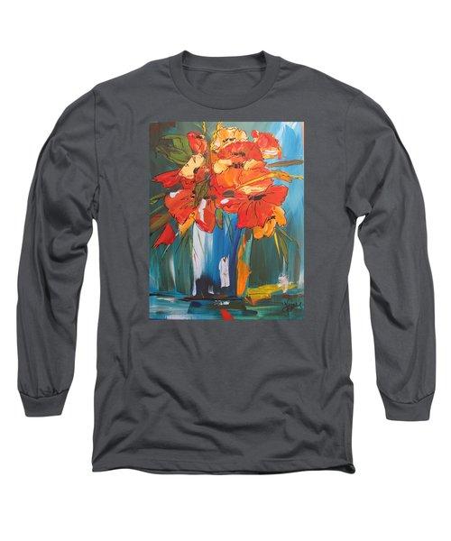 Autumn Vase Long Sleeve T-Shirt by Terri Einer