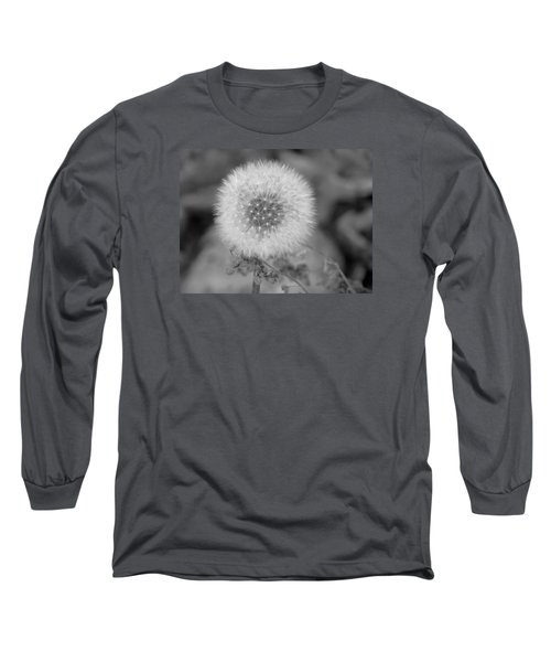 B And W Seed Head Long Sleeve T-Shirt by David T Wilkinson