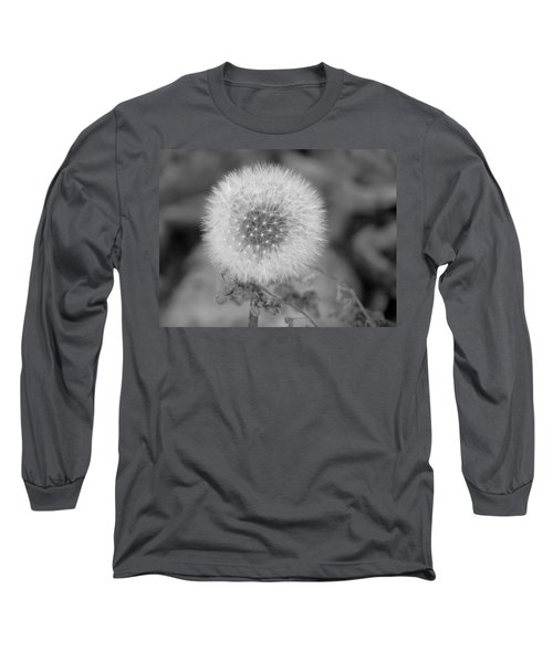 B And W Seed Head Long Sleeve T-Shirt