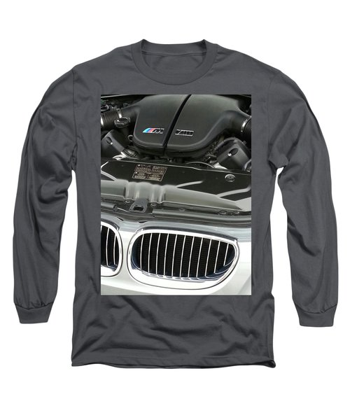 B M W M5 V10 Motor Long Sleeve T-Shirt