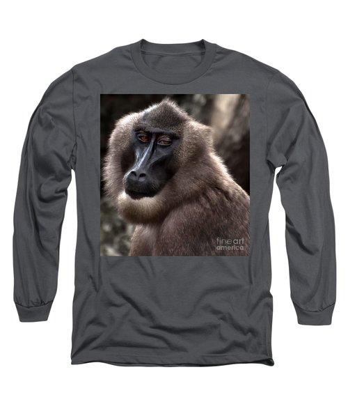 Baboon Long Sleeve T-Shirt by Loriannah Hespe
