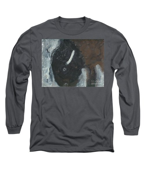 Baby Buffalo In The Snow Long Sleeve T-Shirt