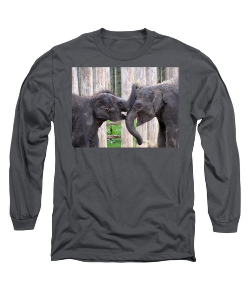 Baby Elephants - Bowie And Belle Long Sleeve T-Shirt