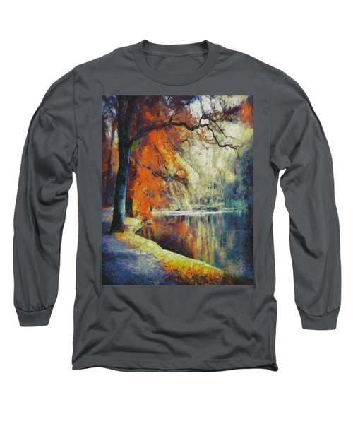 Long Sleeve T-Shirt featuring the painting Back To Our Dreams by Joe Misrasi
