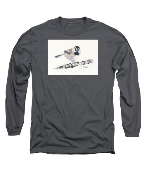 Backyard Busybody - Mountain Chickadee Long Sleeve T-Shirt