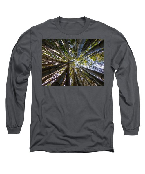Long Sleeve T-Shirt featuring the digital art Bamboo Jungle by Gandz Photography