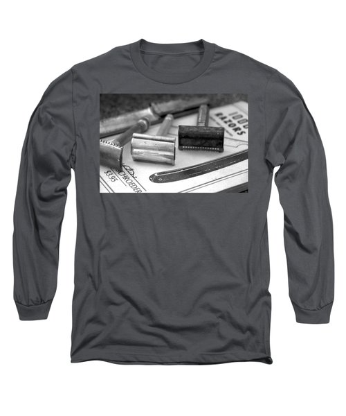 Barber Shop 20 Bw Long Sleeve T-Shirt