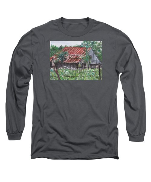 Barn In Montana Long Sleeve T-Shirt