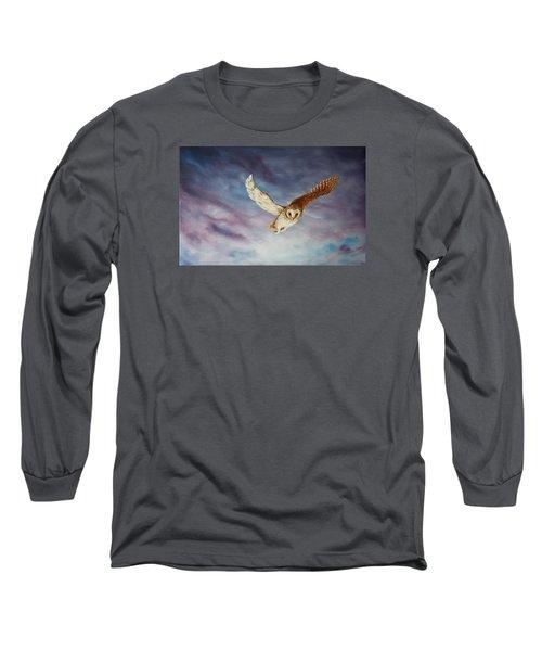 Barn Owl Long Sleeve T-Shirt by Jean Walker