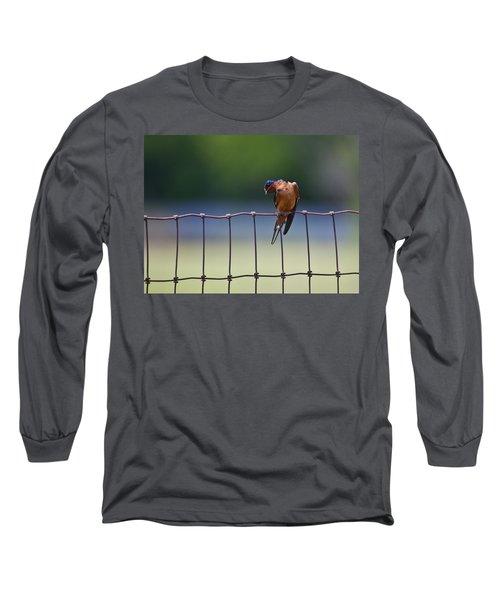 Barn Swallow Long Sleeve T-Shirt by Mark Alder