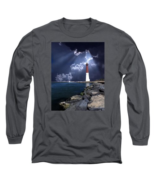 Barnegat Inlet Lighthouse Nj Long Sleeve T-Shirt by Skip Willits