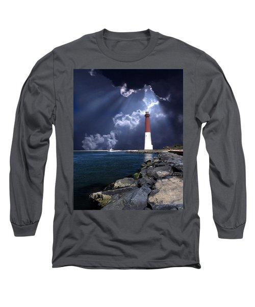 Barnegat Inlet Lighthouse Nj Long Sleeve T-Shirt
