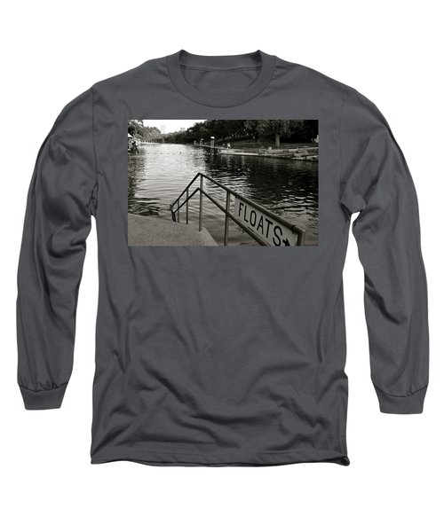 Barton Springs Pool In Austin Long Sleeve T-Shirt