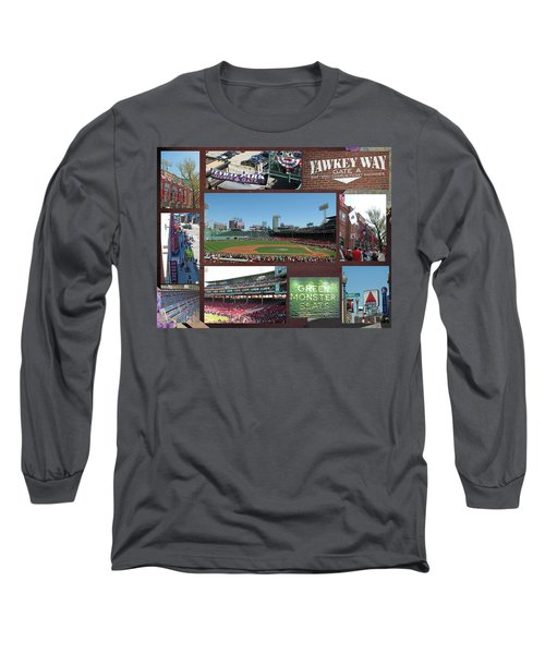 Long Sleeve T-Shirt featuring the photograph Baseball Collage by Barbara McDevitt