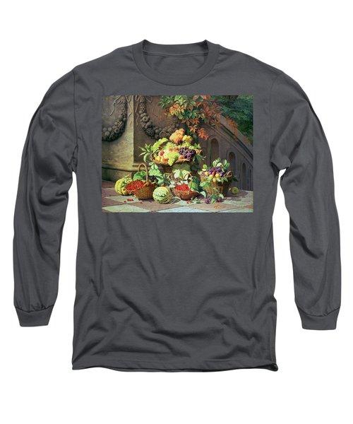 Baskets Of Summer Fruits Long Sleeve T-Shirt