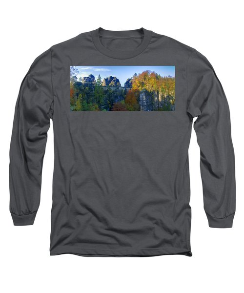 Bastei Bridge In The Elbe Sandstone Mountains Long Sleeve T-Shirt
