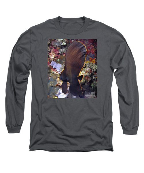 Long Sleeve T-Shirt featuring the photograph Bat Fish by Sergey Lukashin