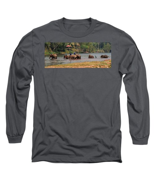 Long Sleeve T-Shirt featuring the photograph Bath Time by Vivian Christopher