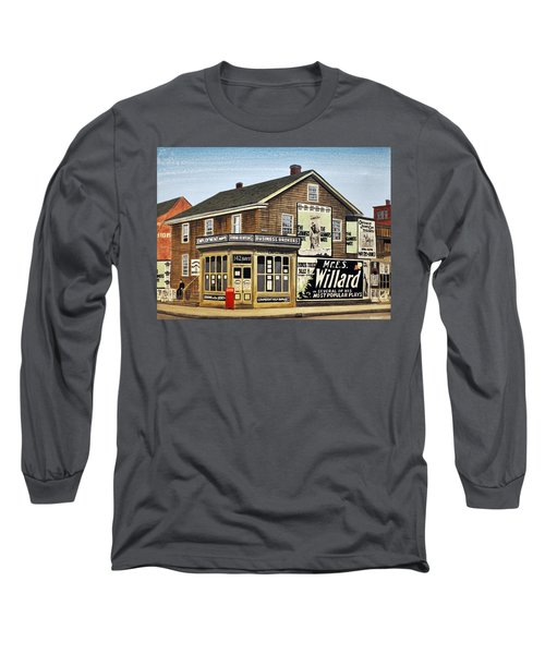 Long Sleeve T-Shirt featuring the painting Bay And Adelaide Streets 1910 by Kenneth M  Kirsch
