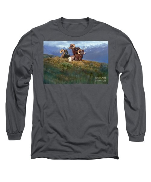 Long Sleeve T-Shirt featuring the painting Bbbad Boy by Rob Corsetti