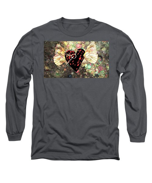 Long Sleeve T-Shirt featuring the photograph Be My Valentine by Ally  White