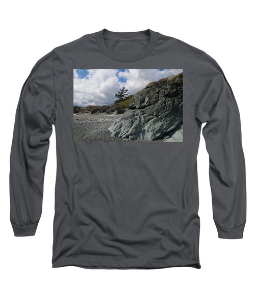 Beach At Fort Rodd Hill Long Sleeve T-Shirt