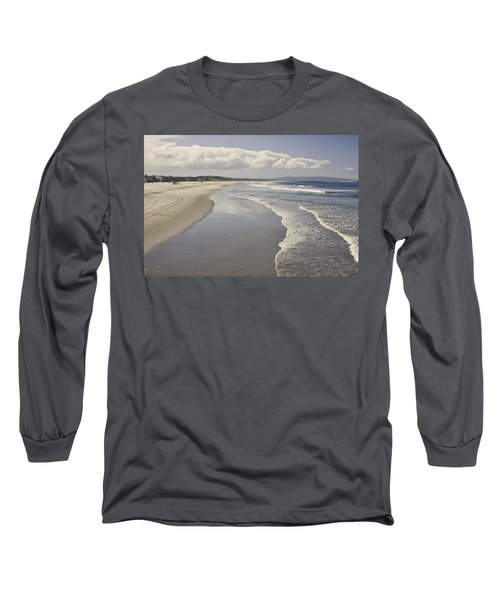 Beach At Santa Monica Long Sleeve T-Shirt