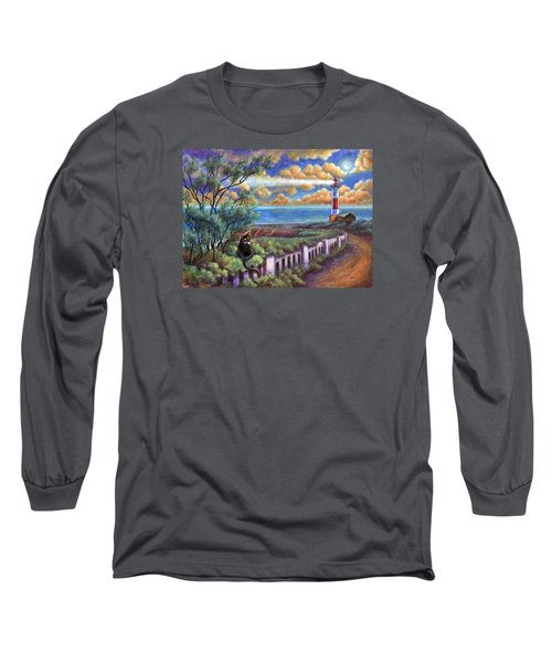 Beacons In The Moonlight Long Sleeve T-Shirt by Retta Stephenson
