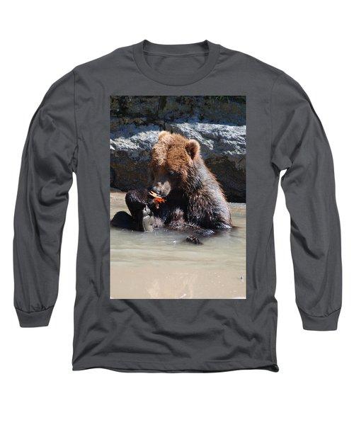 Bear Cub Long Sleeve T-Shirt by DejaVu Designs