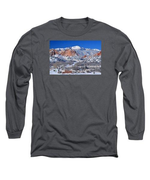 Beautiful Winter Garden Of The Gods Long Sleeve T-Shirt