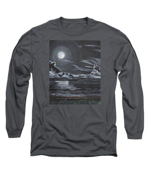 Long Sleeve T-Shirt featuring the painting Beauty Of The Night by Ian Donley