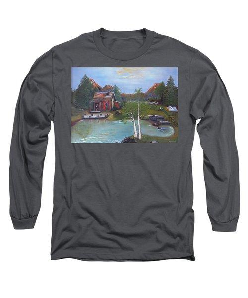Beaver Pond - Mary Krupa Long Sleeve T-Shirt
