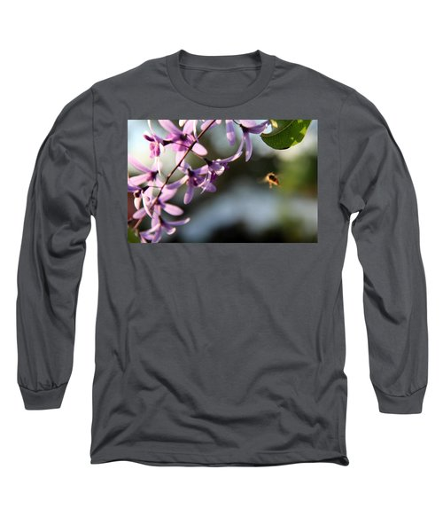 Long Sleeve T-Shirt featuring the photograph Bee Back by Greg Allore