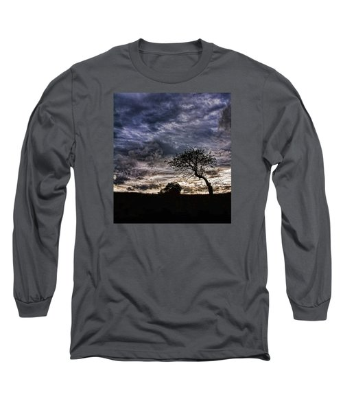 Nova Scotia's Lonely Tree Before The Storm  Long Sleeve T-Shirt