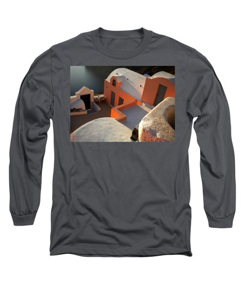 Long Sleeve T-Shirt featuring the photograph Bella Santorini Hause by Colette V Hera  Guggenheim