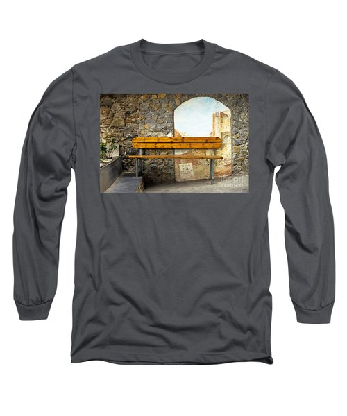 Bench In Riomaggiore Long Sleeve T-Shirt