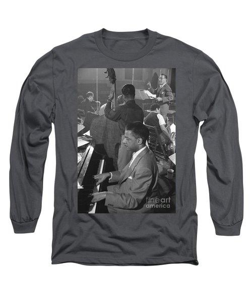 Benny Goodman Orchestra During Studio Rehearsal 1953 Long Sleeve T-Shirt