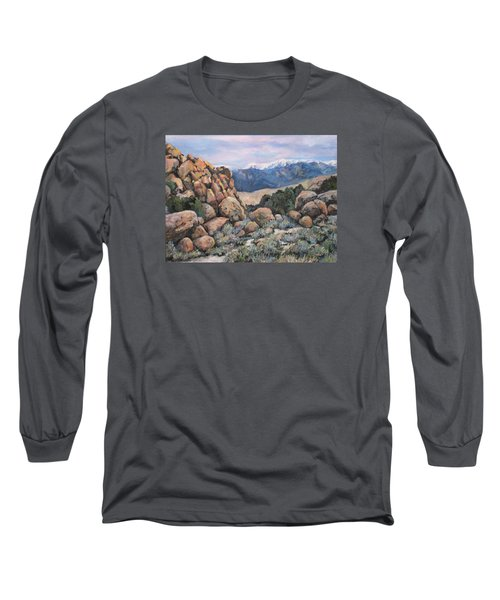 Long Sleeve T-Shirt featuring the painting Benton by Donna Tucker